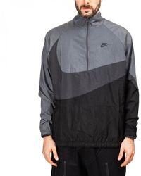 Nike - Nike Swoosh Woven Halfzip Jacket - Lyst