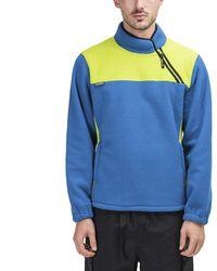 Stussy Drift Diagonal Zip Pullover - Blue