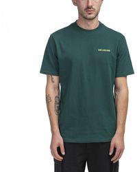Aimé Leon Dore Logo-embroidered Cotton-jersey T-shirt - Green