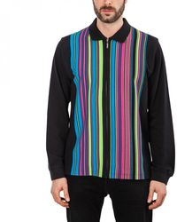 Stussy Simon Longsleeve Zip Polo Shirt Black