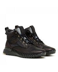 Stone Island Garment Dyed Leather Exostrike Boot - Black