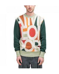 Aimé Leon Dore Blown Print Knit Jumper - Multicolour