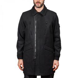 Stone Island Panno Speciale Coat - Black