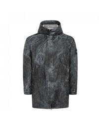 Stone Island Membrana 3l Dust Colour Finish Jacket - Black
