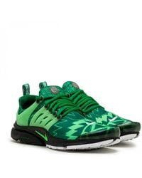 Nike Air Presto Stretch-woven Mid-top Sneakers - Green