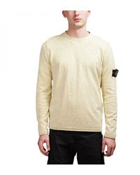 Stone Island Light Crewneck Knit Sweater - Yellow