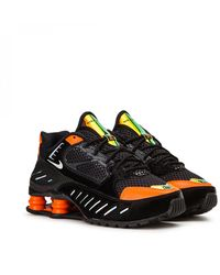 Marcha atrás Víspera estómago  Nike Leather Shox Enigma Trainers in Black/Lime (Black) - Save 53% - Lyst