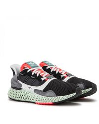 New 2019 Adidas ZX 4000 Futurecraft 4D Cushioning Men's Running Shoes White Multicolor