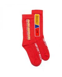 Reebok X Pyer Moss Crew Sock - Red