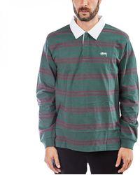 Stussy Desmond Stripe L/S Rugby - Grün