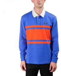 Stussy Stanley L/s Rugby - Blue