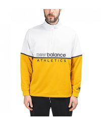 New Balance Herren NB Athletics Track 1/4 Zip - Weiß