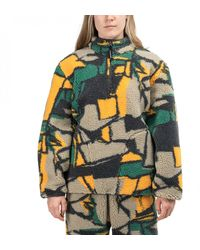 Stussy Womens Block Sherpa Pullover - Multicolor