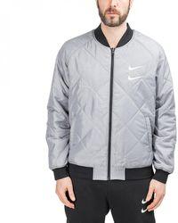 Nike Swoosh Reversible Woven Bomber Jacket - Schwarz