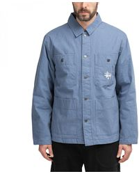 Stussy Quilted Chore Coat - Blue