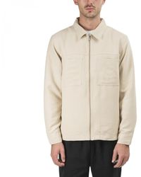 Stussy Micro Suede Work Shirt - Natural