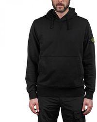 Stone Island Hooded Sweater - Black