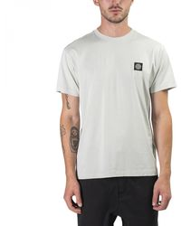 Stone Island Small Logo Patch T-shirt - Natural