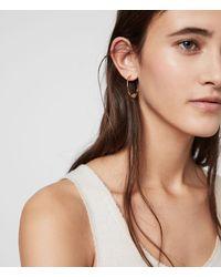 AllSaints Serena Gold Tone Semi-precious Crystal Quartz Hoop Earrings - Metallic