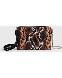 AllSaints Fetch Sliver Chain Leather Wallet Bag - Brown