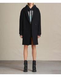 AllSaints Women's Cotton Classic Ada Oversized Coat - Black