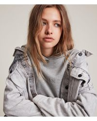 AllSaints Women's Pippa Embroidered Hoodie - Grey