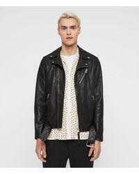 AllSaints - Rigg Leather Biker Jacket - Lyst