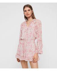AllSaints Flora Rosa Jumpsuit - Pink