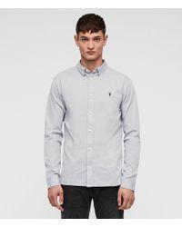 AllSaints Redondo Long Sleeve Shirt - Gray