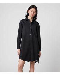 AllSaints Iris Lace Shirt Dres Womens - Black