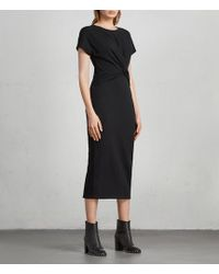 AllSaints - Paloma Long Dress - Lyst