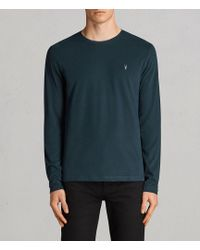 AllSaints | Brace Long Sleeve Tonic Crew T-shirt | Lyst