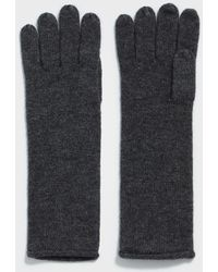 AllSaints - Self Rolled Edge Gloves - Lyst