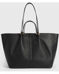 AllSaints Allington Extra Large Leather Tote - Black