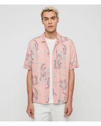 AllSaints Kumu Short Sleeve Shirt - Pink