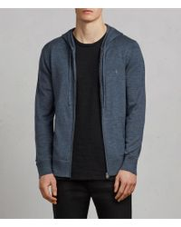 AllSaints - Mode Merino Zip Hood - Lyst