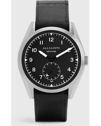 AllSaints Men's Classic Untitled Iii Stainless Steel And Leather Watch - Black
