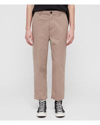 AllSaints Muro Cropped Tapered Chinos Mens - Multicolor