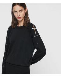 AllSaints Suzie Eyelet Dress - Black