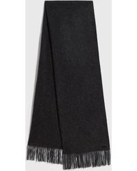 AllSaints Heavy Wool Blanket Scarf - Blue