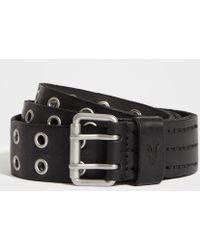 AllSaints - Sturge Leather Belt - Lyst