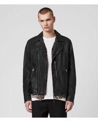 AllSaints Bondi Leather Biker Jacket - Black