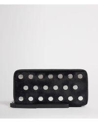AllSaints - Sid Leather Phone Wristlet - Lyst