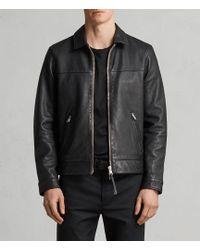 AllSaints - Hayne Leather Jacket - Lyst
