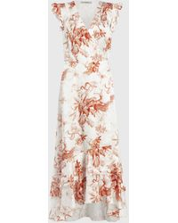AllSaints - Dela Riyaz Silk Blend Dress - Lyst