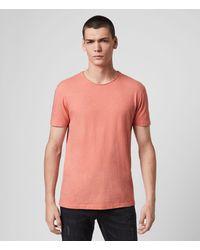 AllSaints Figure Crew T-shirt - Pink