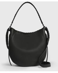 AllSaints Courtney Leather Hobo Bag - Black