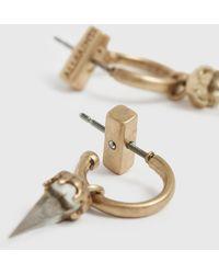 AllSaints Laio Gold-tone Hoop Earrings - Metallic