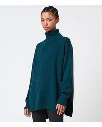 AllSaints Gala Cashmere Blend Roll Neck Jumper - Green