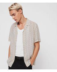 AllSaints Notes Short - Sleeve Sport Shirt - White